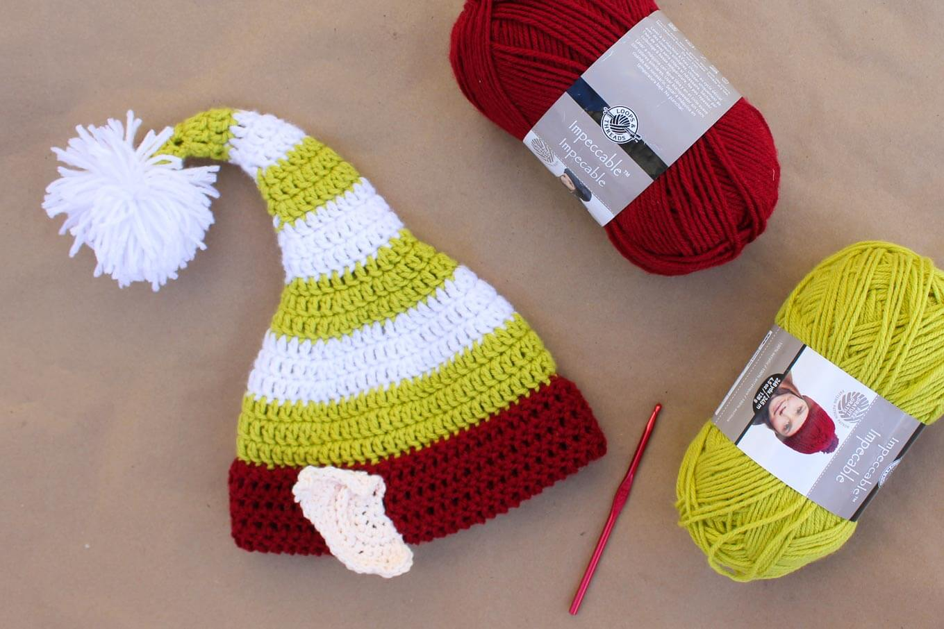 Free crochet elf hat pattern with ears! Make one for each member of ...