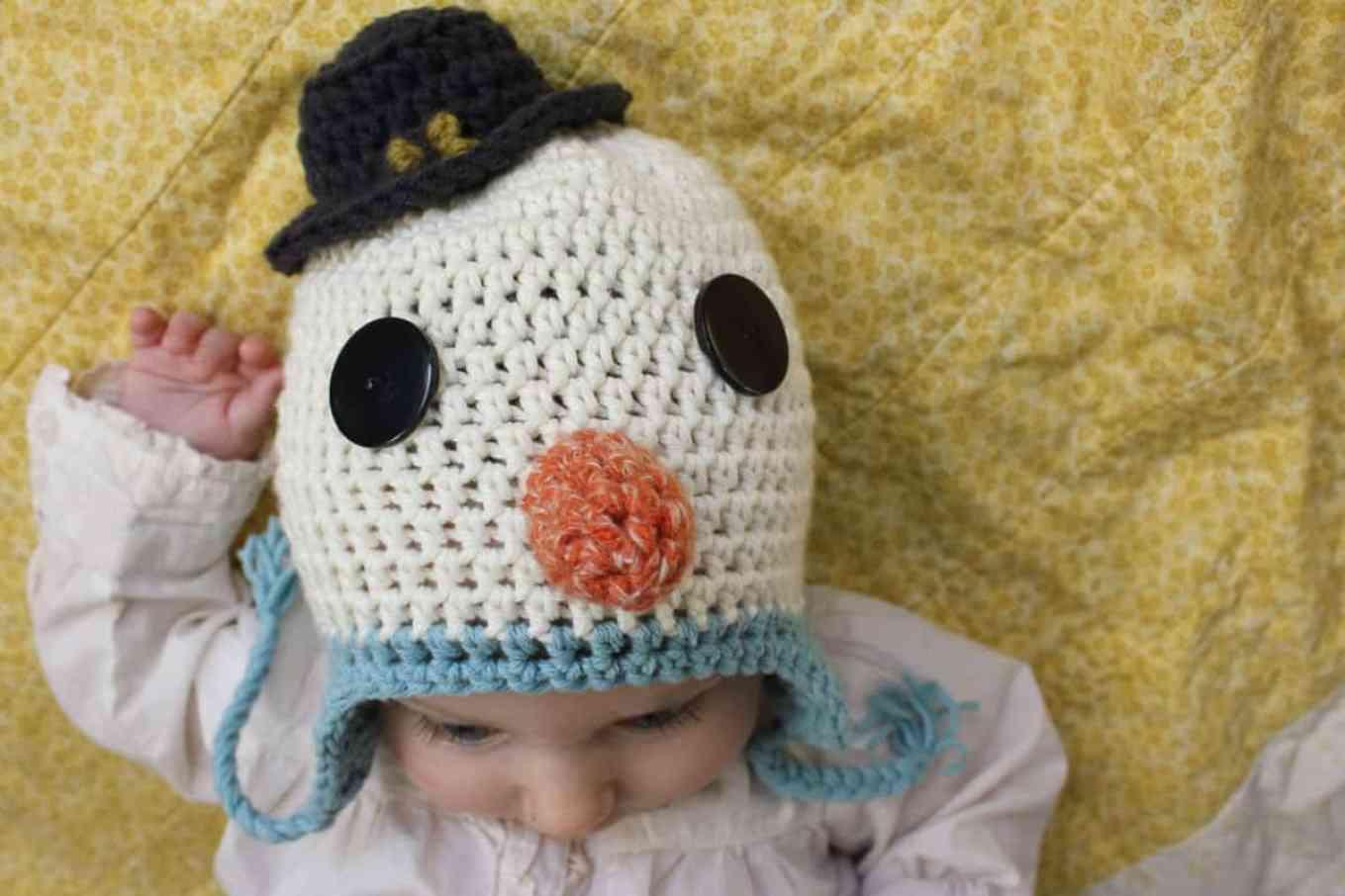 Free Pattern Crochet Snowman : Free Crochet Hat Pattern--a Baby Snowman!