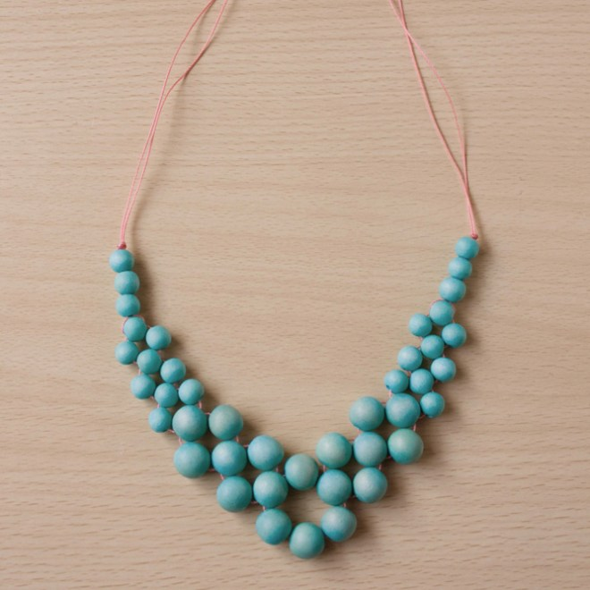 Statement summer necklace diy make and fable for How to make a wooden pendant