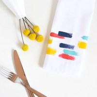 Make your decor | Brush stroke napkins