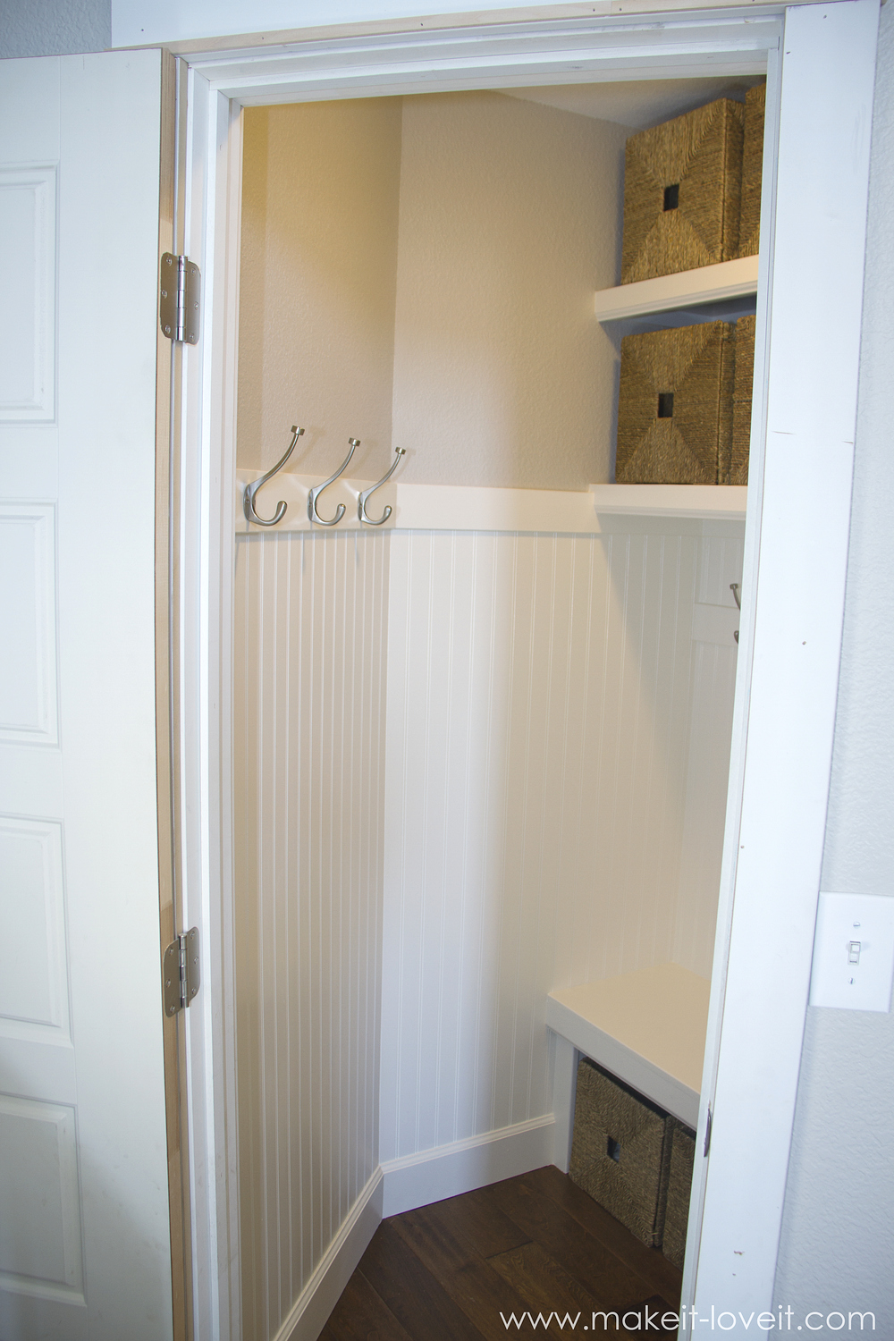 Comfortable Baskets Turn A Coat Closet Into A Hooks Turn A Coat Make It What Is A Mudroom Love It What Is A Mud Room Used houzz 01 What Is A Mud Room