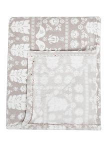 Linea Scandi Grey Fleece Blanket - House of Fraser