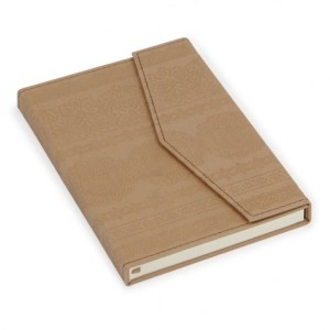 natural moroccan magnetic notebook - paperchase