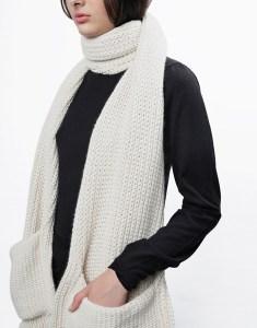 stash me pocket scarf - wool and the gang