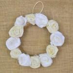Fabric Rose Wreath Decoration