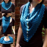 Multiplicity Buttoned Shawl