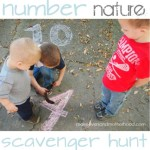 number nature scavenger hunt