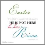 """He has Risen"" Easter Printable"