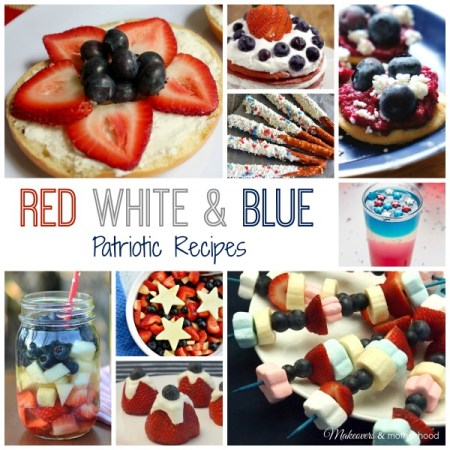 Red, White & Blue Patriotic Recipes; www.makeoversandmotherhood.com