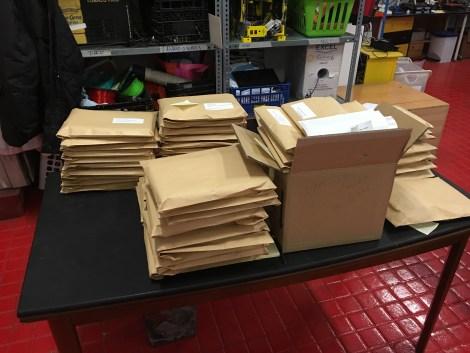 Todos los paquetes listos para envío