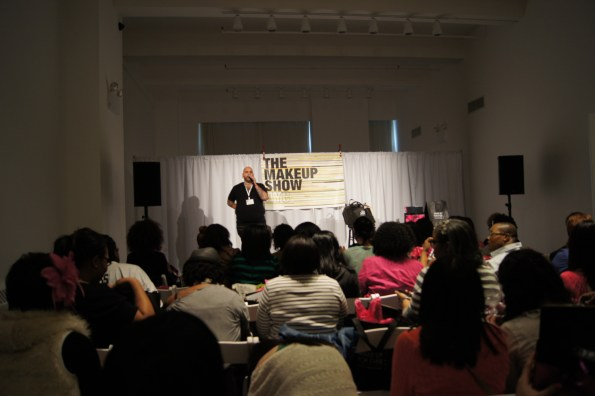 James Vincent Speaking During The Makeup Show NYC