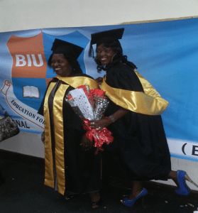 Rhoda Zulu (Mother) and Caroline Zulu (Daughter) graduate together