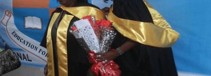Rhoda Zulu (Mother) and Caroline Zulu (Daughter) graduate together