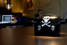 PirateBox: A P2P file-sharing network in a lunchbox