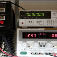 Atomic clock in operation.  That's a lot of zeros.