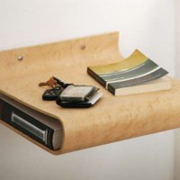 Bent plywood night stands
