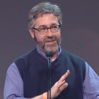 Role-playing game superhero Warren Spector accepting the Lifetime Achievement Award