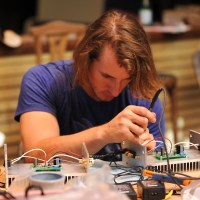 Soldering the output wiriing