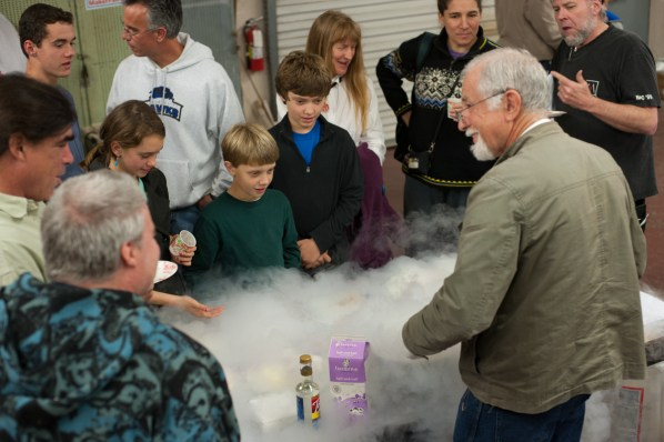 Making ice cream with liquid nitrogen-yum!