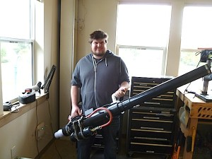 And here's Dan Spangler with his magnum opus - the combustion cannon.