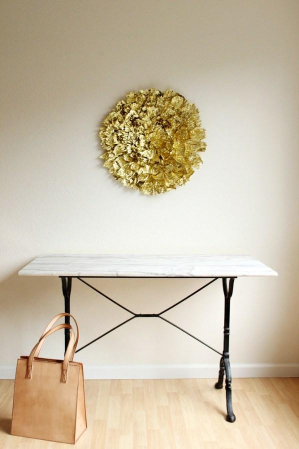 Giant gilded flower wall decor2
