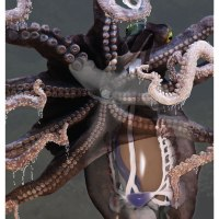 Final render of the octopus. water droplets and all