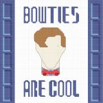 "See the post: Free Eleventh Doctor ""Bow Ties Are Cool"" Cross-Stitch Pattern"