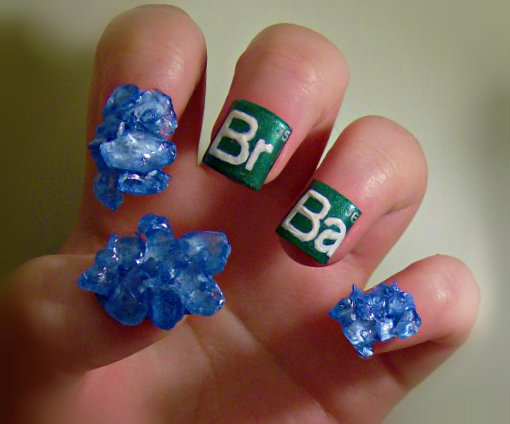 KaleighOC pays tribute to Breaking Bad with some craaazy nail art.