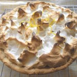Lemon meringue pie — aaah, a classic. And this one looks perfectly cooked, with the meringue browned just the right amount.