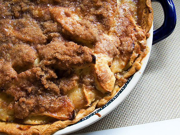 Sour cream apple pie — Okay, so I already shared apple pie. But this one is different, and the photo makes my mouth water.