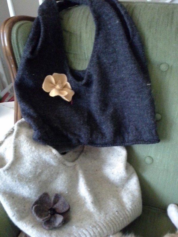 My repurposed life brings to you old and comfortable sweaters transformed into beautiful and practical purses and accessories.