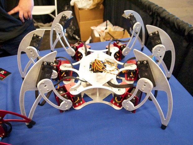 A hexapod with an Aluminum frame.