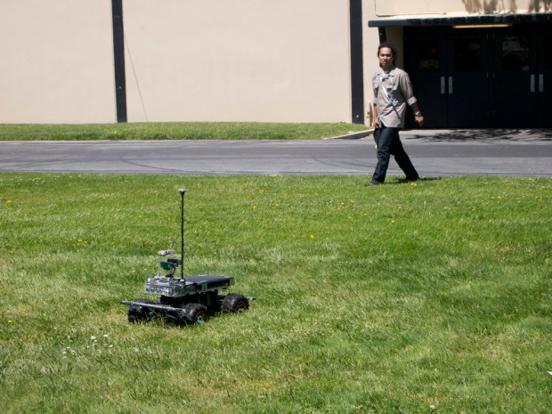 An attempt during the Autonomous Navigation competition.