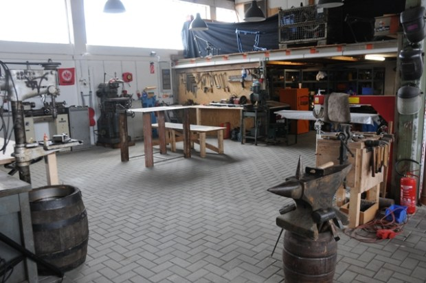 The Wannabe-Choppers new workshop in Giessen, Germany.