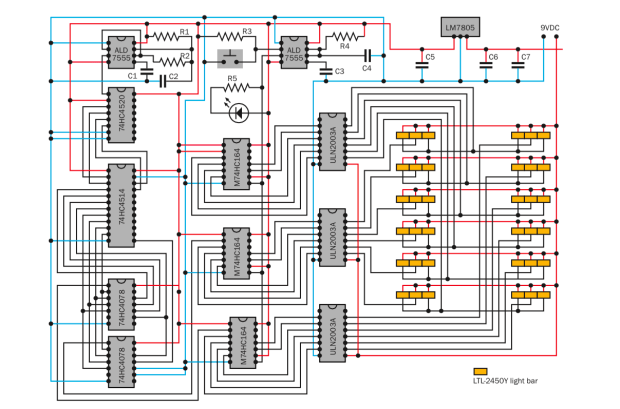 Complete schematic for the Ching Thing.