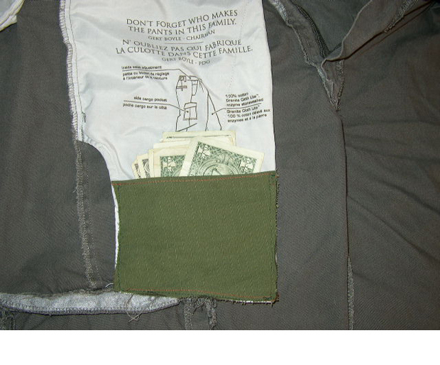 03/17: Easy Hidden Pocket, Instructables (link)