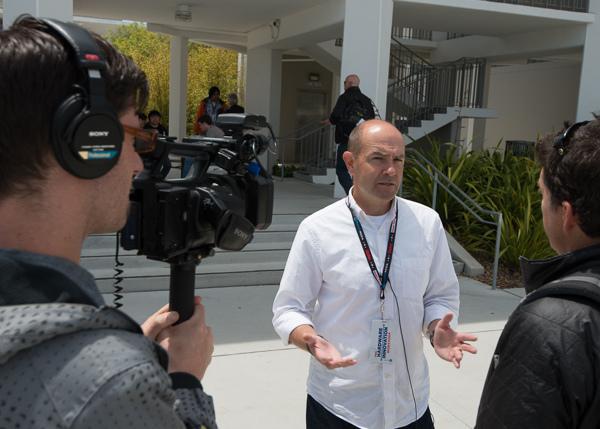 DIY Drones' Chris Anderson meets the press.