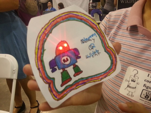 One girl's tribute to Makey the Robot.