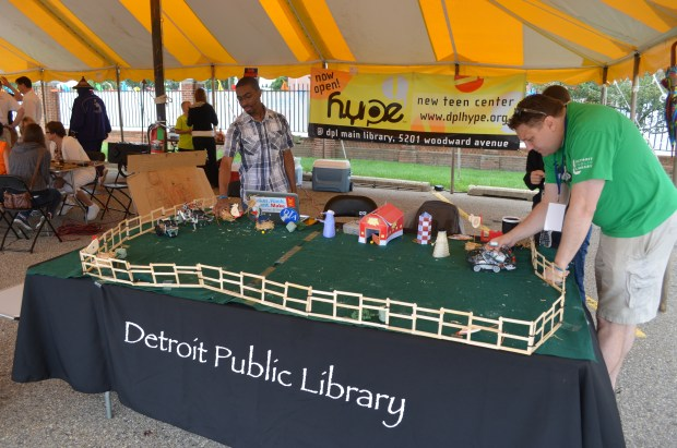 Detroit Public Library shows off their robots: http://www.detroit.lib.mi.us