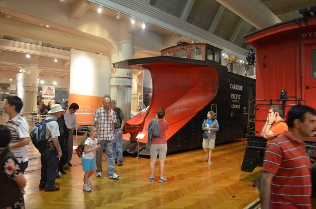Automobiles are not the only vehicles you will find at The Henry Ford.  An entire section of the museum is devoted to historically important and interesting trains, such as this snowplow used by the Canadian Pacific.