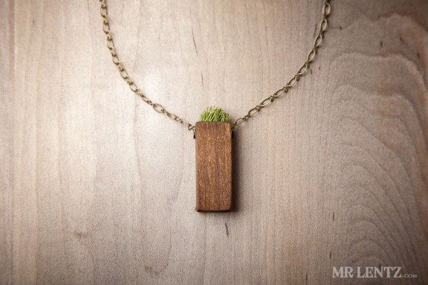 Grass necklace.