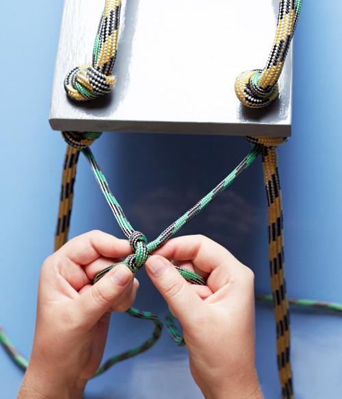 rope shelves on Design Sponge