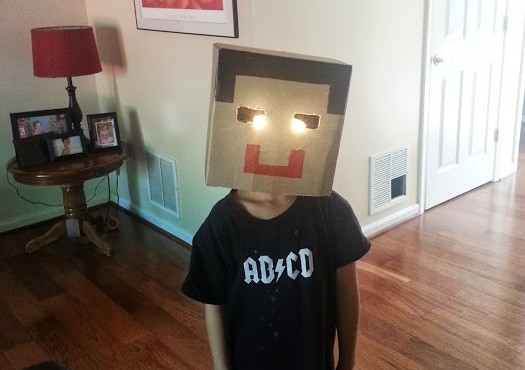 Minecraft mask by Diego Briceno