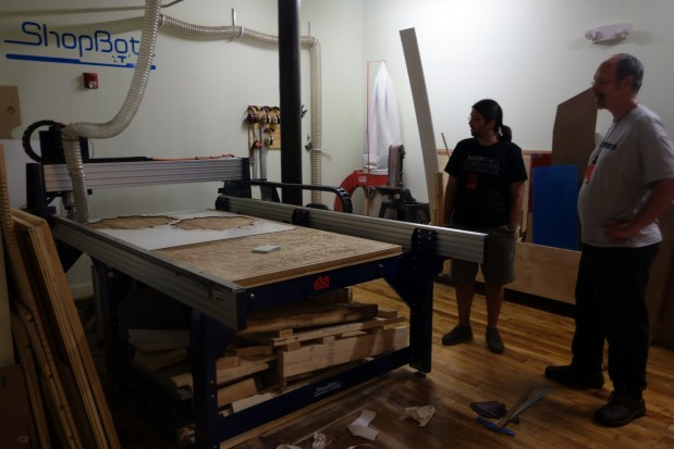 This 8' x 4' ShopBot rounds out an extremely diverse set of resources for makers at AS220 Labs.