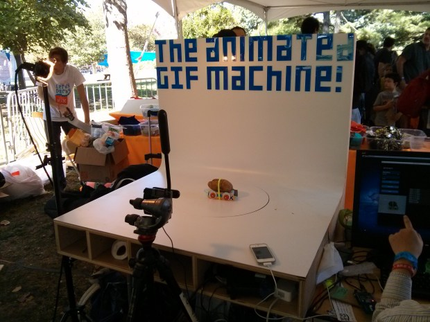 The Animated Gif Machine captures a 360 degree view of each car and turns it into an animated gif!
