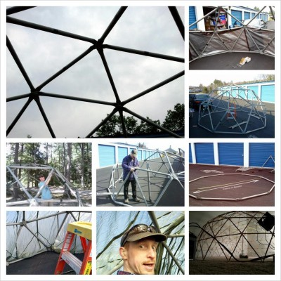 "@electronomicon_: I made/making a 4 meter, 2 frequency dome out of 2""PVC for camping."