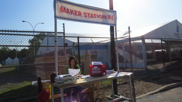 Check-in and info for makers.