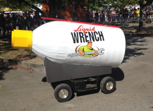 The Liquid Wrench chase car.