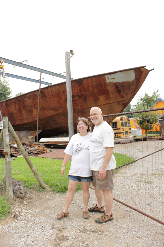 These two have built two submarines from scratch in the past & our now hard at work on the SV Seeker, a 74 foot steel origami hull, junk rigged, cargo, motor sailer. They will be wowing Maker Faire crowds with their on-site metal casting. You won't want to miss these genial folks who dream big! http://www.svseeker.com/