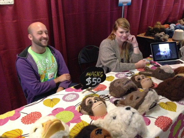 The folks from Biddy Bopp Shop showed off their animal masks.